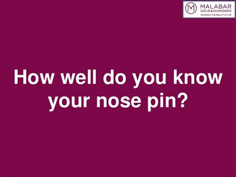 How Well Do You Your by How Well Do You Your Nose Pin