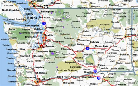 washington state map with cities cycling maps for washington state