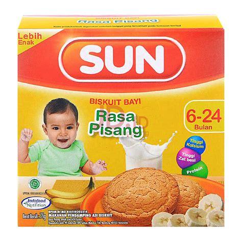 Biscuit Anak jual sun biskuit bayi pisang box 75gr jd id