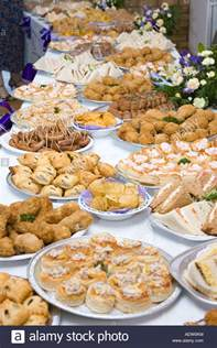 What Is A Buffet Table Food Buffet Table At A Wedding Reception In The Uk Stock
