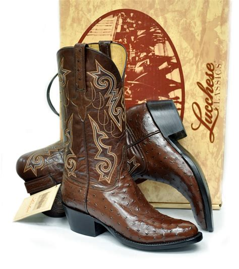 mens cowboy boots made in usa new lucchese classics ostrich quill mens cowboy boots