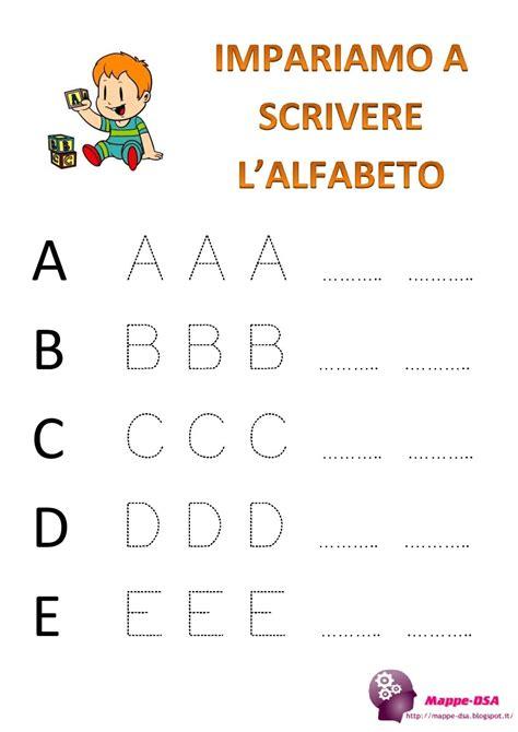 imparare lettere impariamo a scrivere l alfabeto