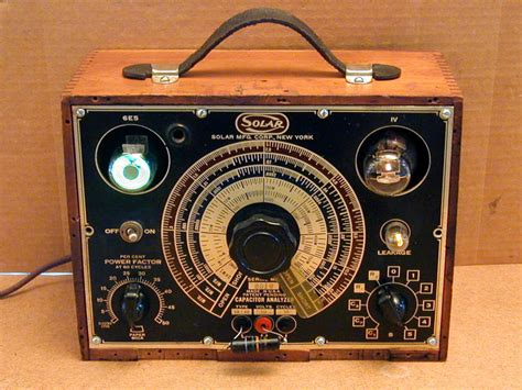 solar capacitor checker solar cb 160 capacitor analyzer 1945