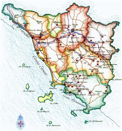 tuscany map tuscany road map www pixshark images galleries with a bite