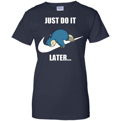 Hoodie Bein Snirlax Navy just do it later snorlax t shirt hoodies tank top