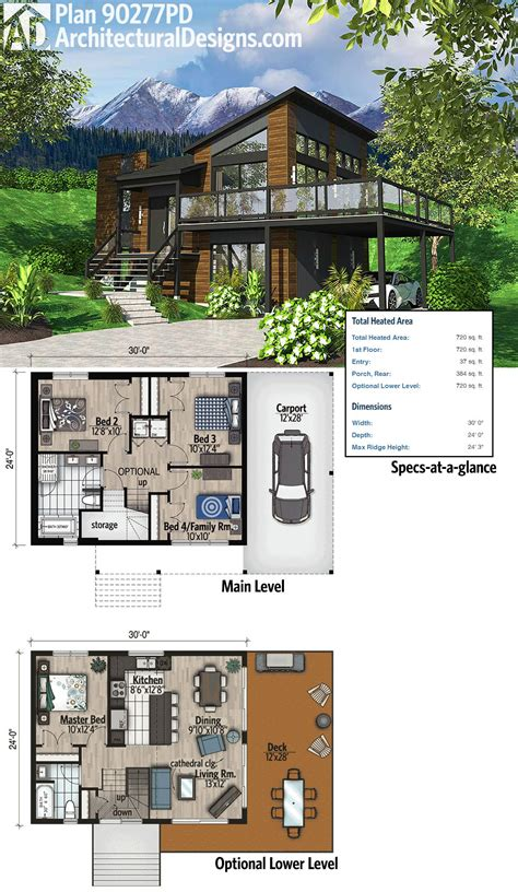 contemporary home designs and floor plans plan 90277pd exciting contemporary house plan a lodge house plans contemporary house plans