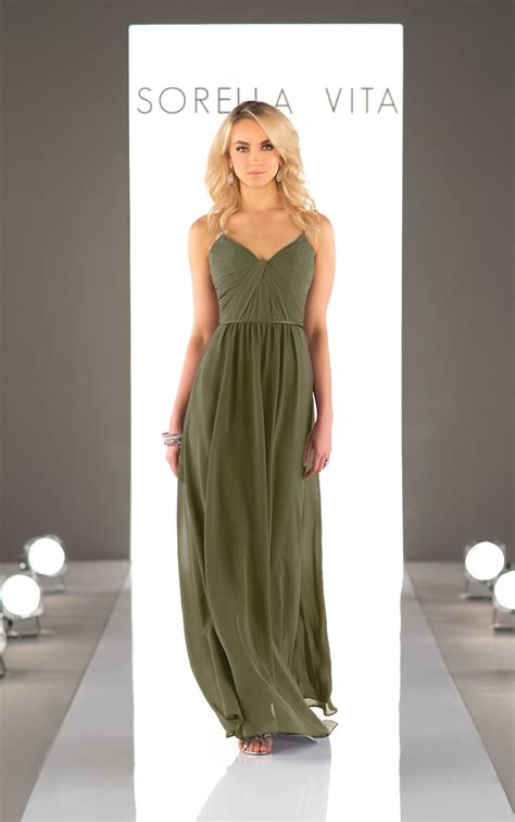chiffon floor length bridesmaid dress sorella vita