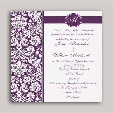 damask invitation template stirring damask wedding invitations theruntime