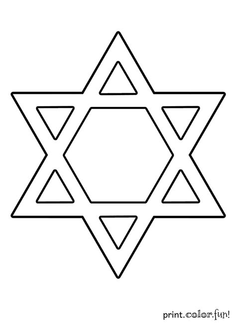 Star of David coloring page   Print. Color. Fun!