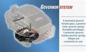 how does a small engine governor work briggs amp stratton