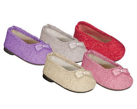 american doll slippers glitter shoes 18 inch doll flats