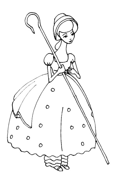 bo peep coloring book