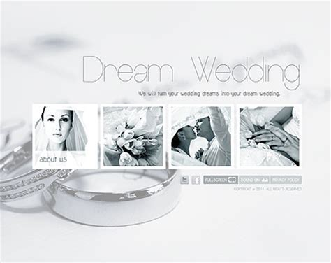 Wedding Planner flash website template   Best Website