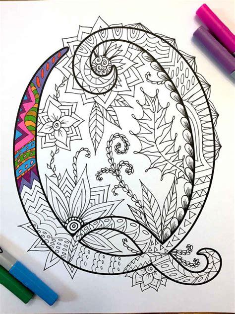 mandala pattern font letter q zentangle inspired by the font harrington by