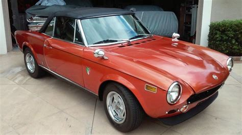 fiat spider convertible top 1978 fiat 124 spider convertible for sale
