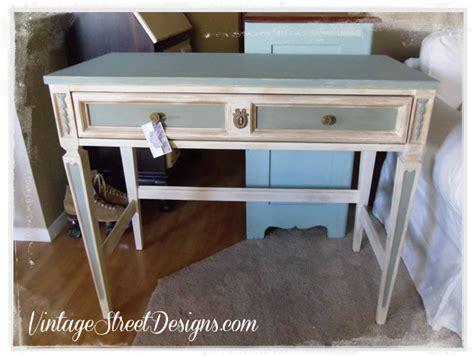 Distressed Blue White Desk White Distressed Desk