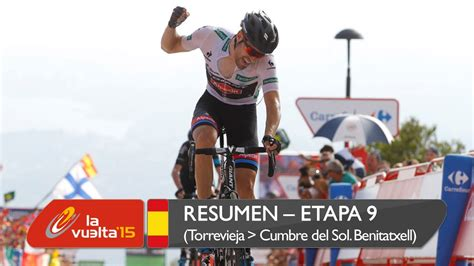 Resumen 9 Etapa Vuelta España by Resumen Etapa 9 Torrevieja Cumbre Sol