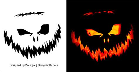 scary pumpkin carving templates free carving patterns