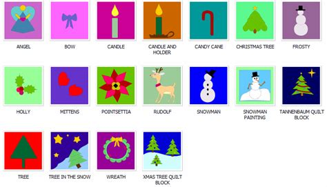 christmas pattern block designs preview the online quilt block pattern library at