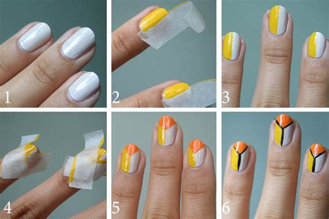 easy nail art with tape step by step latest step by step nail art designs tutorials 2015
