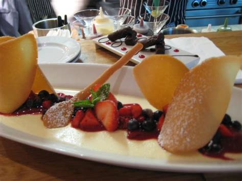 Mermaid Kitchen And Bar pannacotta fresh berries and tuile biscuit picture of