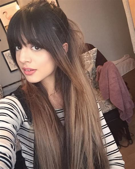 brunette hair with fringe ombre style 26 striking cuts with long hair and bangs 2017 hairstyle
