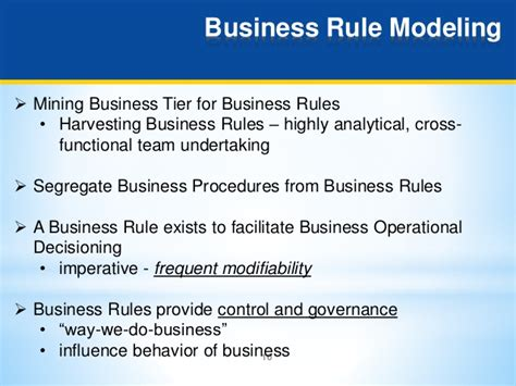 business rule pattern c business rules design and modeling guidelines