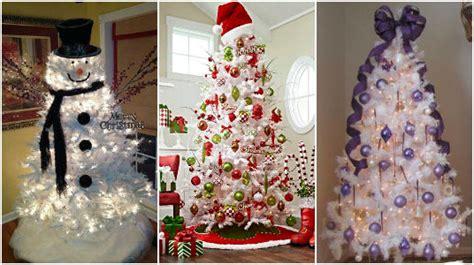 decorar un arbol de navidad blanco maneras de decorar un 193 rbol de navidad color blanco