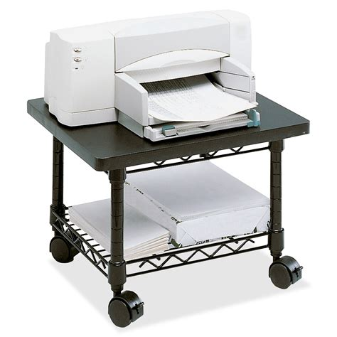 metal printer stand cabinet under desk printer fax stand ld products