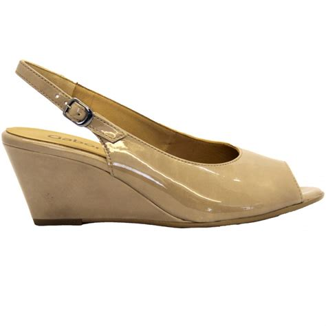 gabor shoes betti womens wedge sandal in beige from mozimo