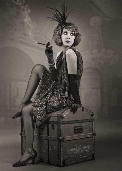 1920s flapper look burlesque love it pinterest