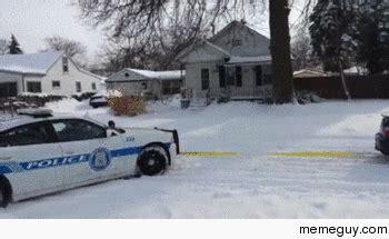 subaru snow meme cop being pulled out of snow by subaru meme guy