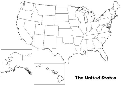 united states map outline black and white outline maps
