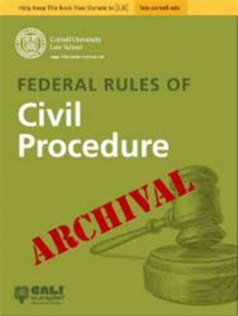 federal of civil procedure 2018 edition with advisory committee notes books federal of civil procedure archival copies cali