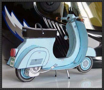 Motorrad Modell Basteln by Lambretta Motor Scooter Ver 2 Free Paper Model