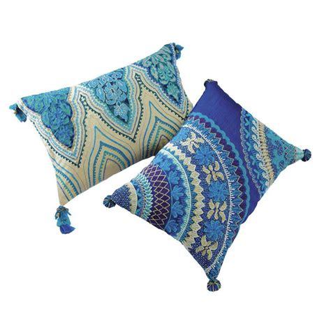 cuscini indiani 2 cuscini indiani in cotone 30 x 45 cm e 33 x 43 cm