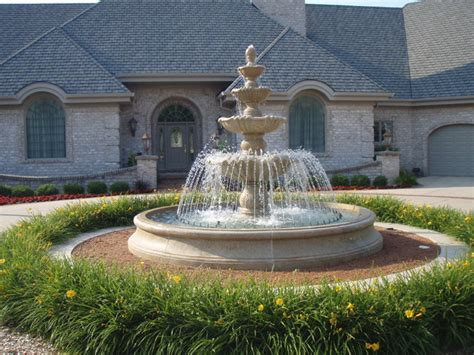 backyard statues large estate fountain mediterranean landscape milwaukee by carved stone
