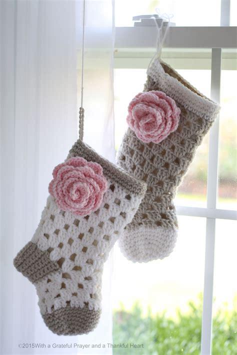crochet pattern for baby christmas stocking lined crochet stocking for chloe grateful prayer