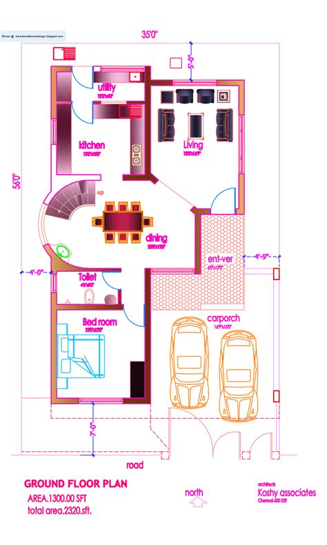 modern ground floor house plans modern house plan 2320 sq ft kerala home design and