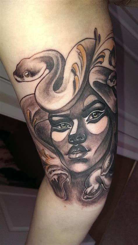 black water tattoo medusa done by price at blackwater studio in wales uk