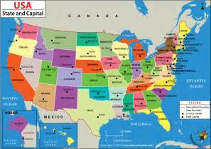 United States Map With States Us States And Capitals Map 50 States And Capitals Of Usa
