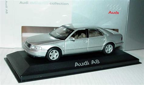 Audi A8 Modellauto by 1 43 Audi A8 D2 Facelift 2001 Silber Met Werbemodell
