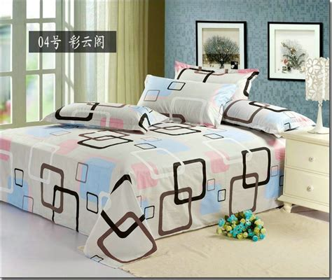 modern bed sheets 1pcs hot sale modern design printed bed sheets queen size 100 cotton twill bedding homt textile jpg