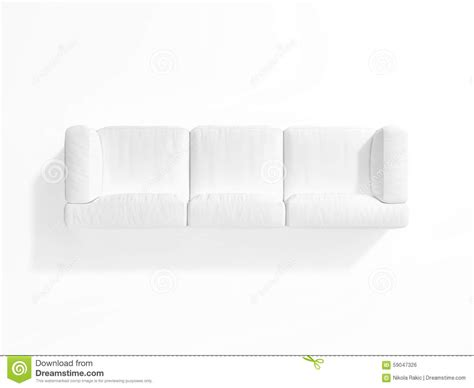 Sofa Draufsicht by White Sofa On White Background Top View Stock