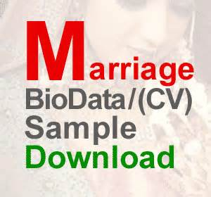 matrimonial resume sle biodata format for marriage for boy