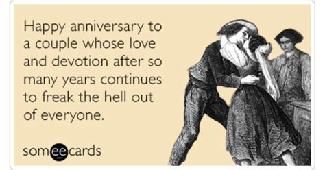 Happy Anniversary Love Freak Out Funny Ecard   Anniversary
