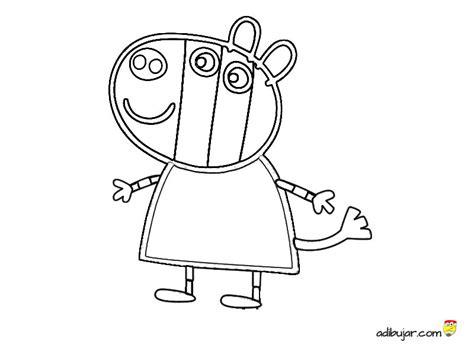 dibujos infantiles zoe zoe zebra para colorear animales cebra peppa pig