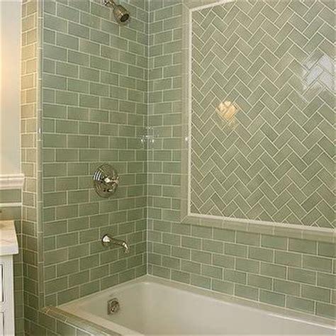 green subway tile bathroom green subway tile shower contemporary bathroom