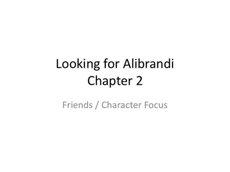 Looking For Alibrandi Essays by Looking For Alibrandi Ch 2