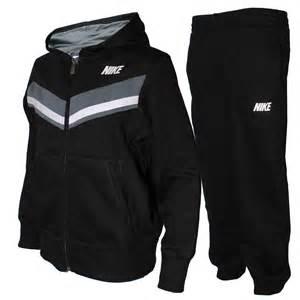 Nike ya76 trio hooded tracksuit kids boys sports clothes black a